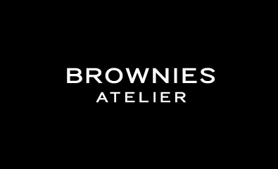 Extended, uppercase, sans-serif logotype designed by Richard Baird for Peruvian brownie brand Brownies Atelier