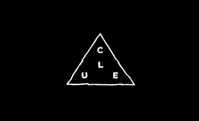 Sans-serif logotype designed by Richard Baird for electronic music duo Clue