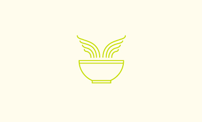 Flying Food logo designed by Richard Baird