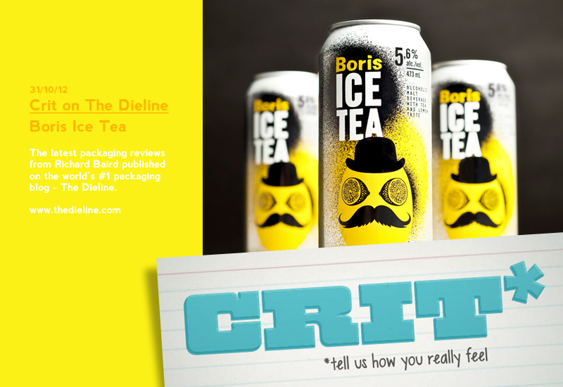 Packaging Review on The Dieline: Boris Ice Tea