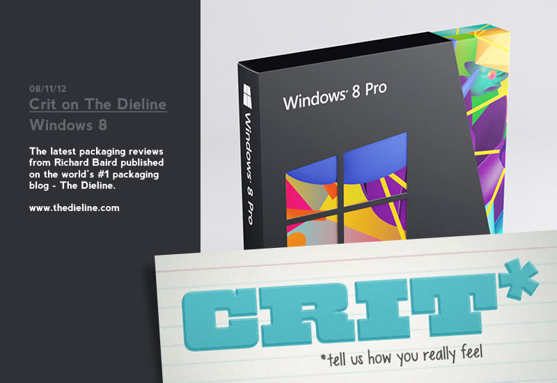 Packaging Review on The Dieline: Windows 8