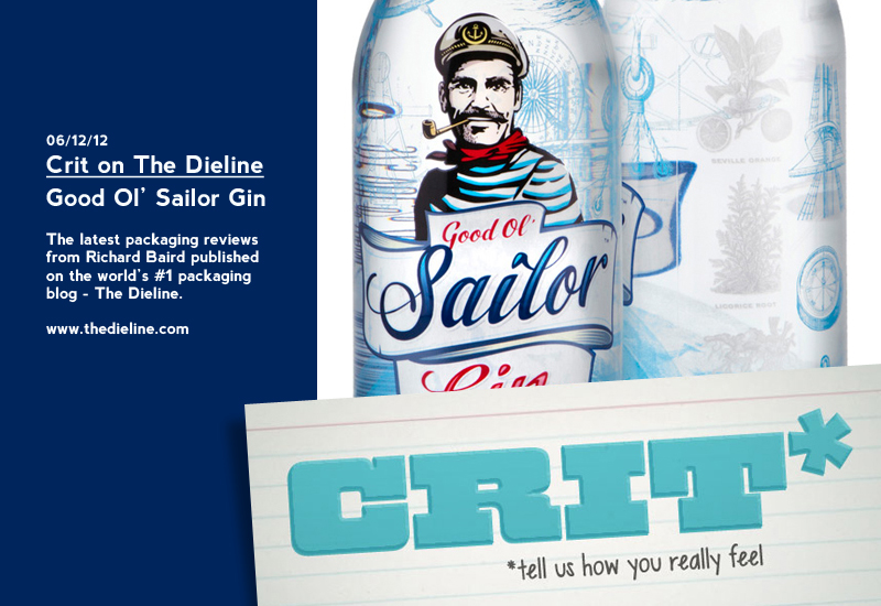 Packaging Review on The Dieline: Good Ol' Sailor Gin