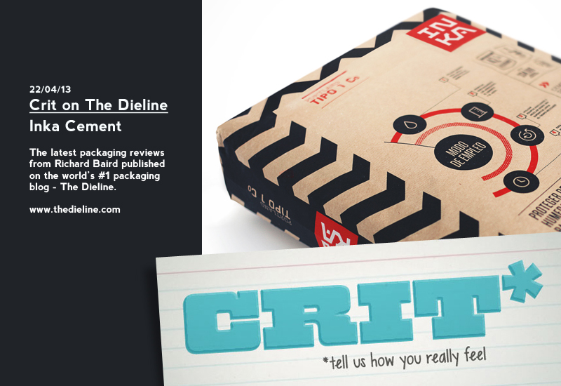 Crit on The Dieline: Inka Cement - Packaging Review by Richard Baird