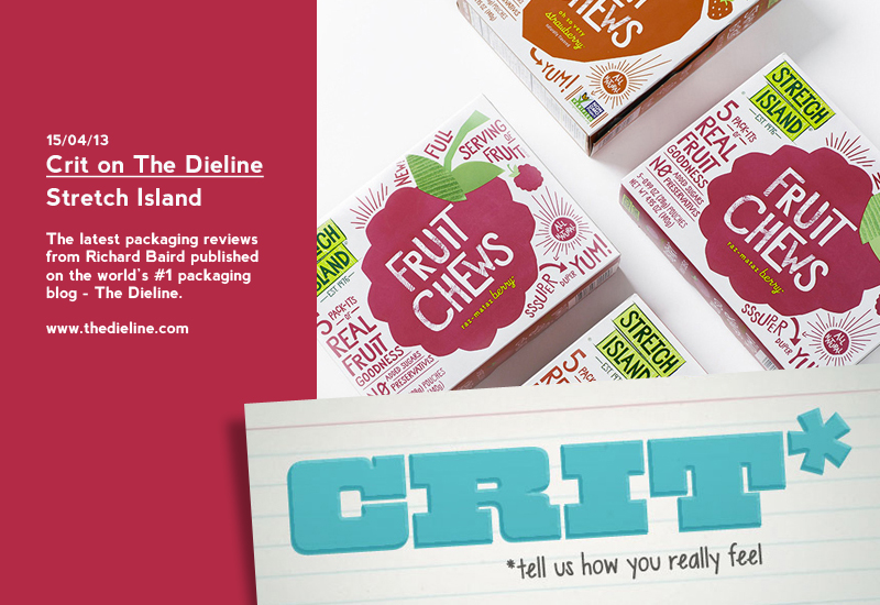 Crit on The Dieline: Stretch Island Fruit Chews - Packaging Review by Richard Baird