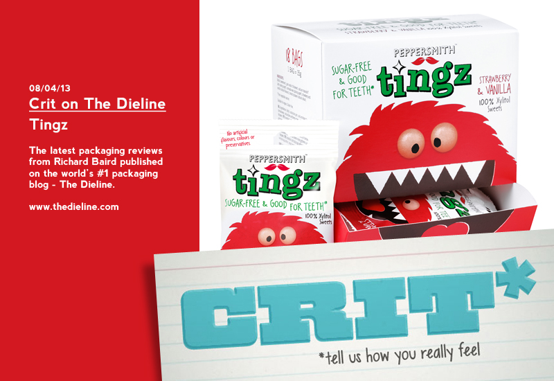 Crit on The Dieline: Tingz - Packaging Review by Richard Baird