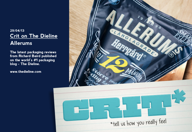 Crit on The Dieline: Allerums - Packaging Review by Richard Baird