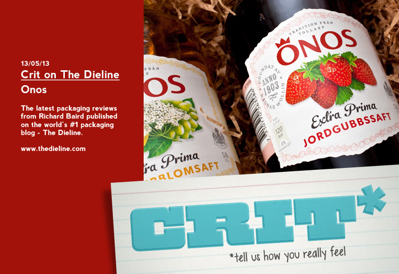 Packaging Review on The Dieline: Önos
