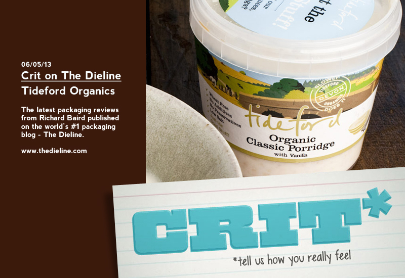 Crit on The Dieline: Tideford Organics - Review by Richard Baird