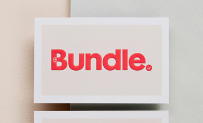 Logo, stationery and website design for Bundle created by The Company You Keep