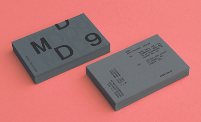 Logo design and business cards for MDD9 created by Two Times Elliott