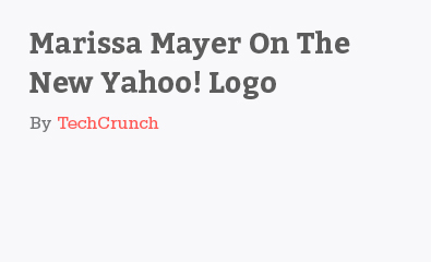 Marissa Mayer On The New Yahoo! Logo by TechCrunch
