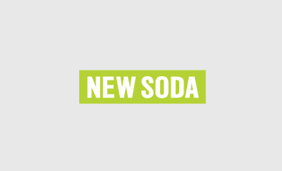 Sans-serif logotype designed by Richard Baird for innovative homeware brand New Soda