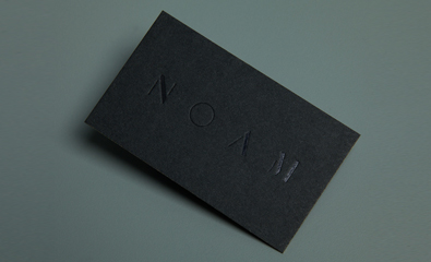 Logo, stationery and website design for Noam created by Graphical House