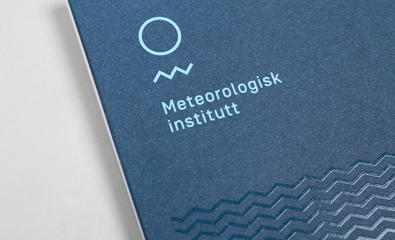 Logo design and print for Norwegian Meteorological Institute created by Neue