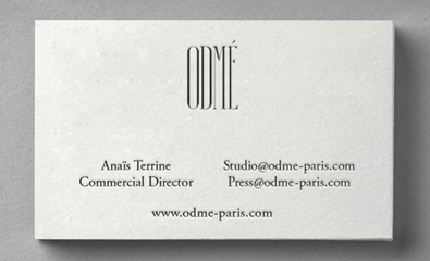 Logo and collateral designed by Two Times Elliott for Paris accessory brand Odmé