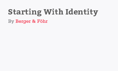 Starting with identity by Berger & Föhr
