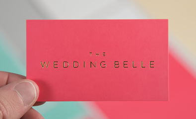 Logo, stationery and website for The Wedding Belle designed by Ghost