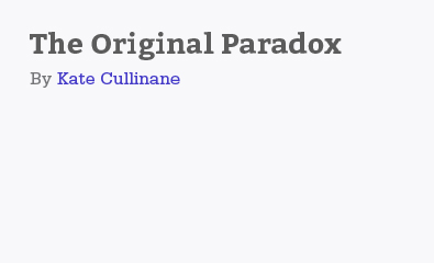 The Original Paradox by Kate Cullinane