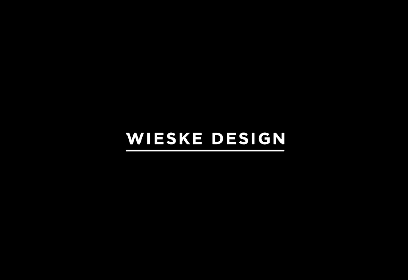 Underlined sans-serif logotype designed by Richard Baird for interior design studio Wieske Design