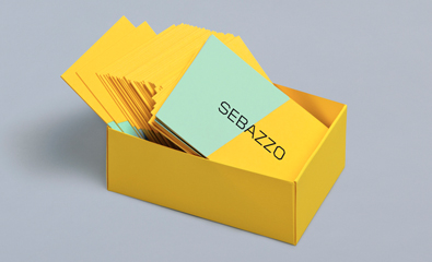 Logo and stationery design for Sebazzo created by Bunch