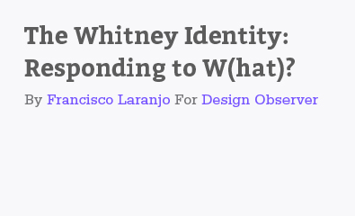 The Whitney Identity: Responding to W(hat)? by Francisco Laranjo