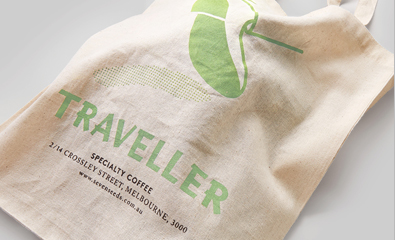 Logo, print and sign design for Traveller created by The Company You Keep