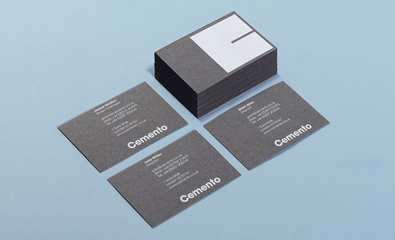 Logo, stationery, print and website design for Cemento created by St