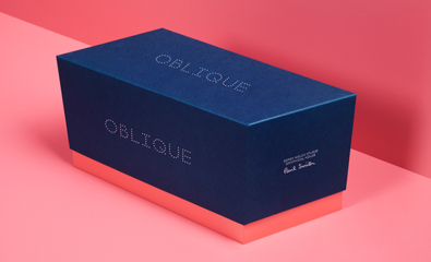 Packaging design for Oblique by Graphical House