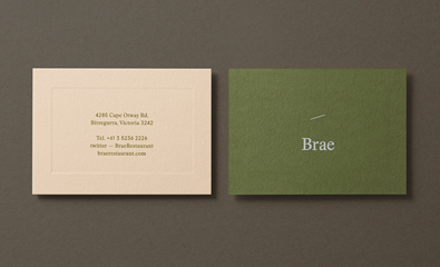 Logo, stationery and website design for Brae by Studio Round