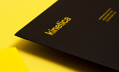 Logo, stationery and website design for Kinetica by Face