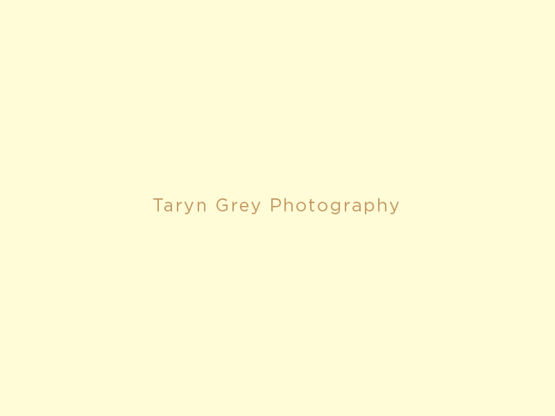 Sans-serif logotype for photographer Taryn Grey designed by Richard Baird