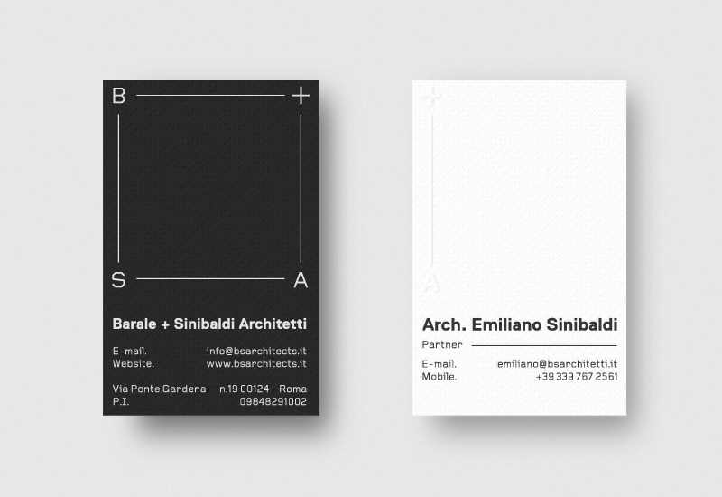 Brand identity and business cards for Italian architecture firm by Richard Baird