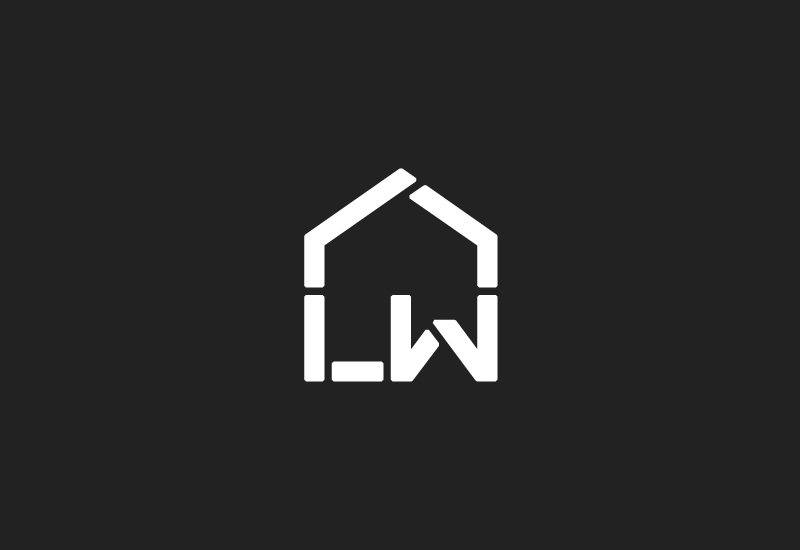 Monogram designed by Richard Baird for LW Roofing Services.