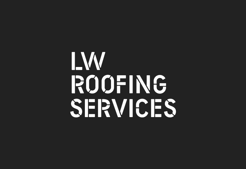 Logotype designed by Richard Baird for LW Roofing Services.