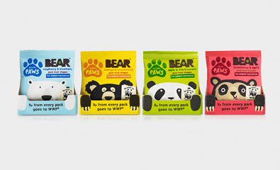 Bear Paws packaging designed by B&B Studio featured on BP&O