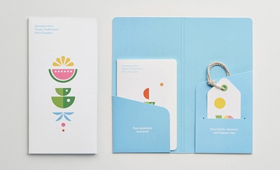 Investec 2014 Team Conference visual identity designed by Garbett featured on BP&O