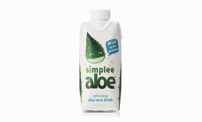 Simplee Aloe Packaging by Designers Anonymous featured on BP&O