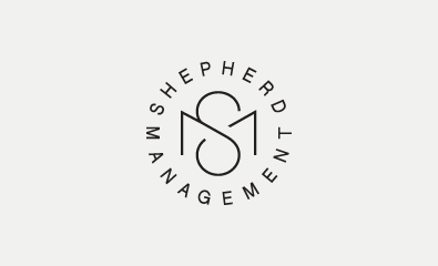 Shepherd Management logo design by Richard Baird