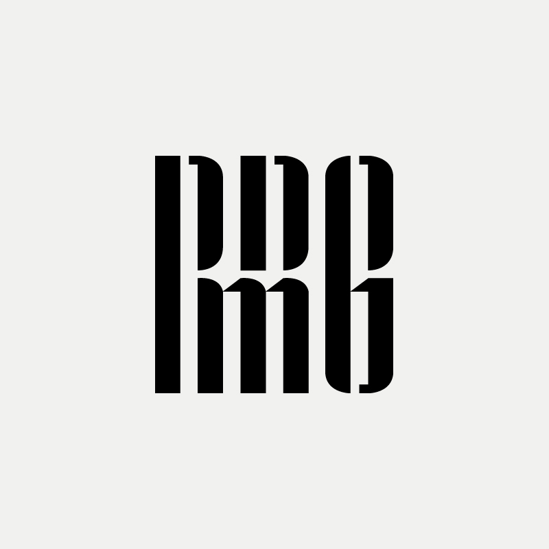 RRMG Modern monogram by British freelance logo designer Richard Baird - richardbaird.com