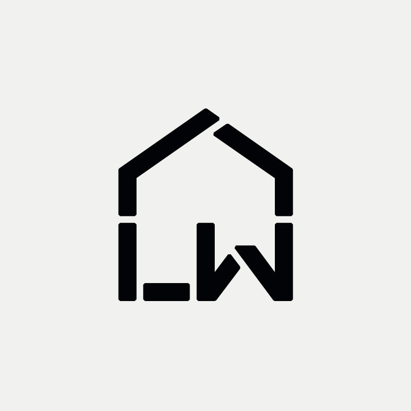 LW Modern monogram by British freelance logo designer Richard Baird - richardbaird.com